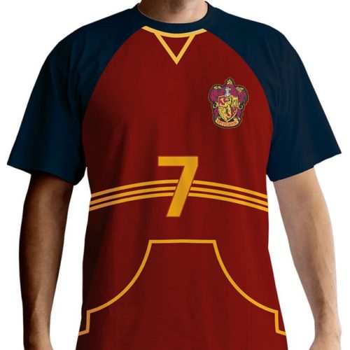 t-shirt harry potter quidditch capitano grifondoro