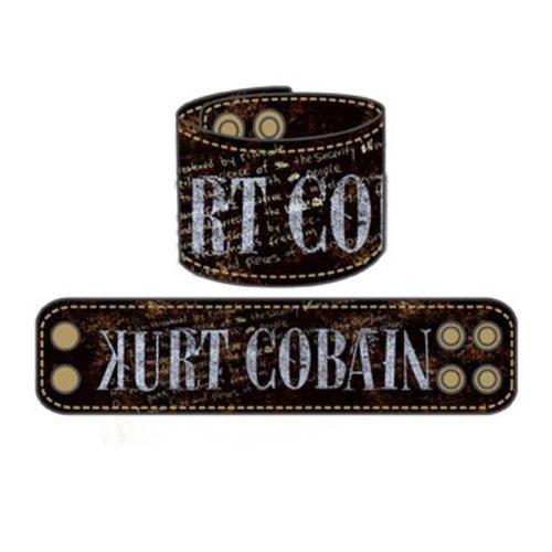 Bracciale in Cuoio Kurt Cobain Nirvana