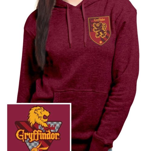 Felpa Grifondoro Bordeaux con cappuccio Harry Potter