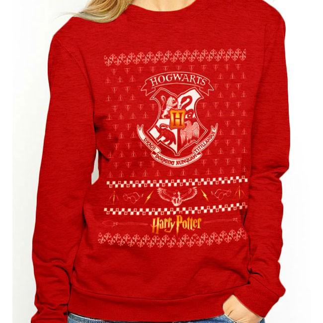 nuovo concetto fd3ee bed10 Felpa di Hogwarts Natalizia Harry Potter
