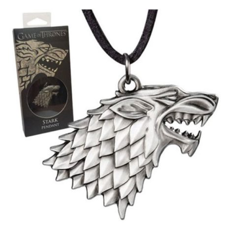 Pendente con collana degli Stark Game of Thrones