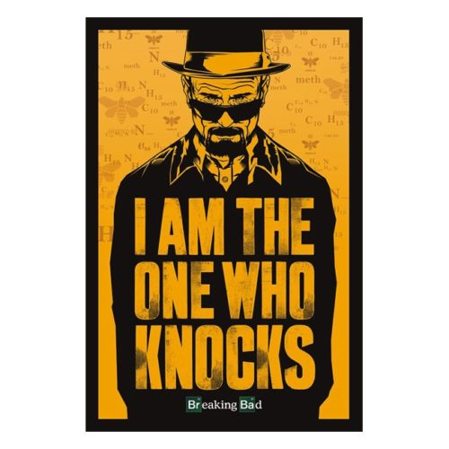 poster breaking bad i am the onw who knocks