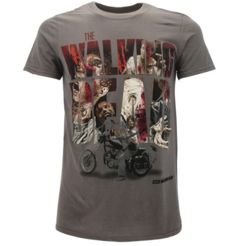 T-Shirt The Walking Dead Daryl Dixon Grigia