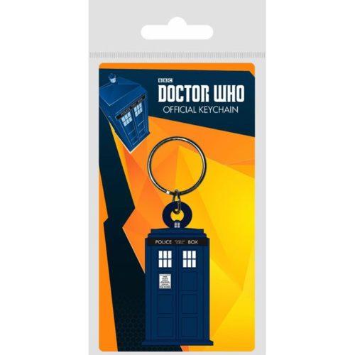 Portachiavi Doctor Who Cabina in gomma