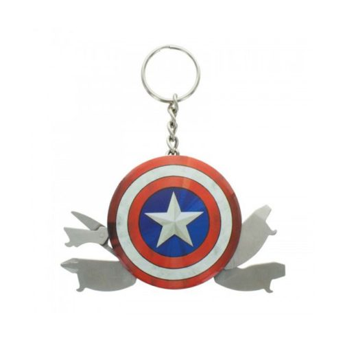 Portachiavi Marvel Scudo Capitan America multitool