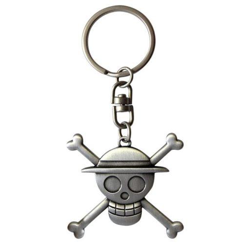 Portachiavi One Piece Cappello di Paglia logo 3D