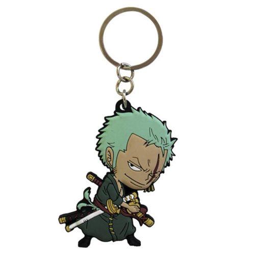 Portachiavi One Piece Zoro in gomma