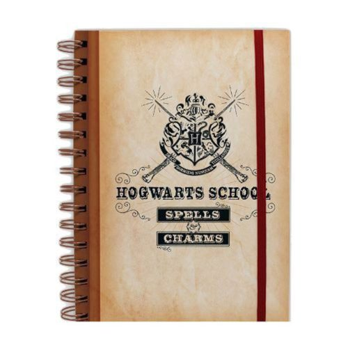 Taccuino Hogwarts School Spells and Charms Harry Potter