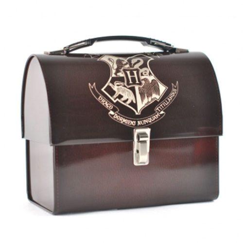 scatola di latta con stemma di hogwarts harry potter