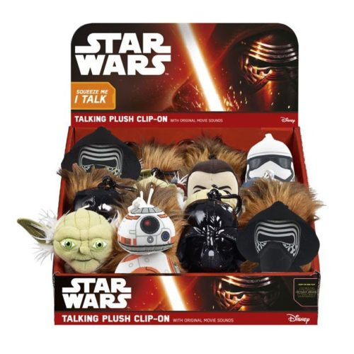 mini peluches sonori portachiavi star wars