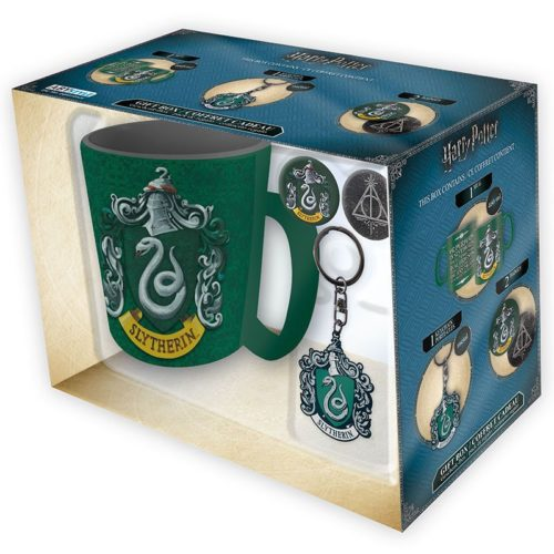 Gift Box harry potter tazza portachiave e spille serpeverde