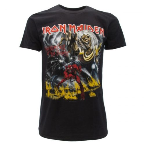 t-shirt iron maiden the number of the beast