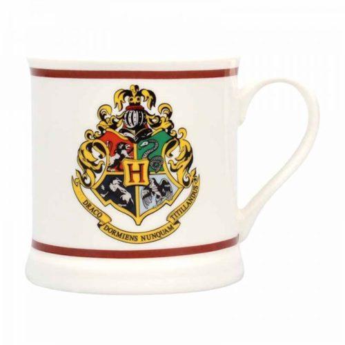 Tazza con stemma di Hogwarts e scritta Harry Potter