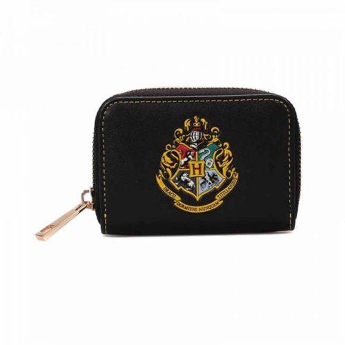 Portamonete nero Hogwarts di Harry Potter
