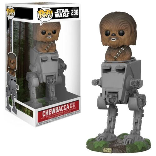funko pop chewbacca with at-st star wars 236