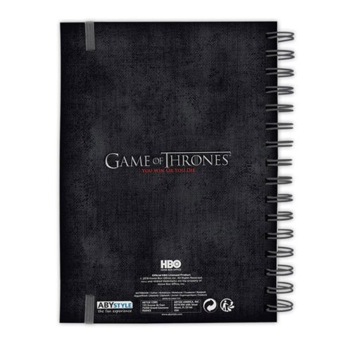 Notebook Stark the north remember Game of Thrones retro