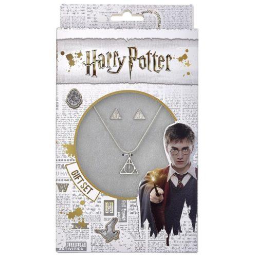 gift set collana e orecchini doni della morte harry potter