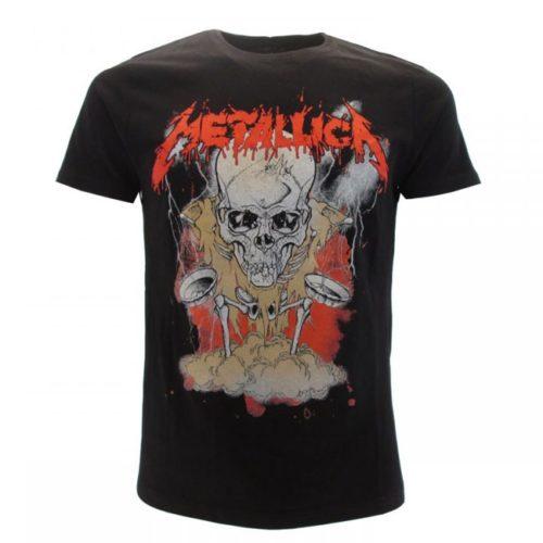T shirt Metallica Teschio e scheletro