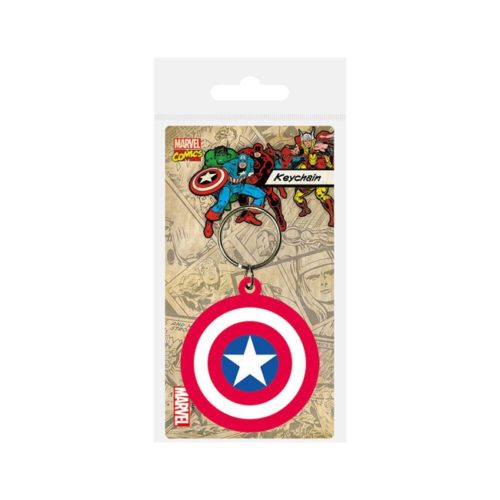 portachiavi Capitan America Marvel in gomma