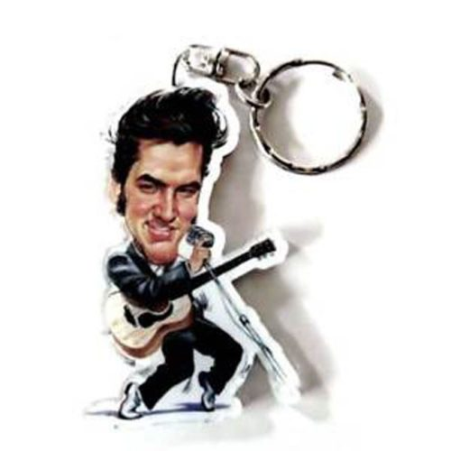 portachiavi Elvis Presley caricatura