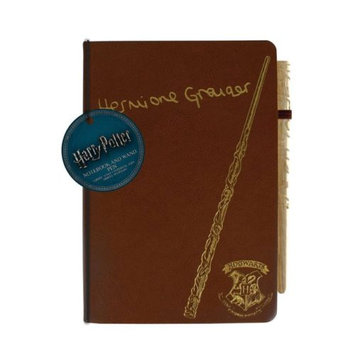 Notebook con penna bacchetta Hermione Granger Harry Potter