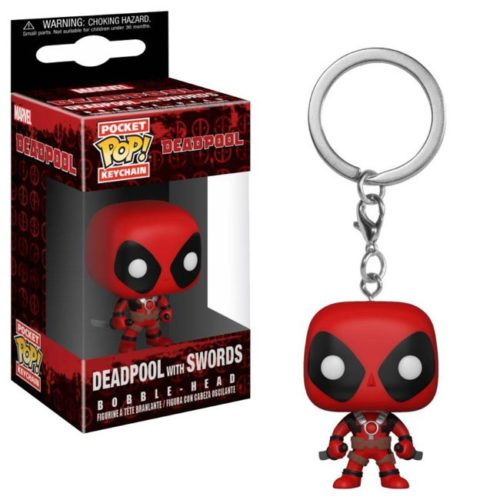 portachiavi Pocket pop Keychain Deadpool with Swords Marvel