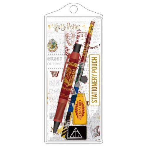 set penna matita gomma righello e temperamatite hogwarts harry potter
