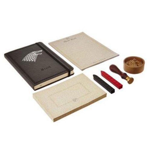 set Notebook Timbro ceralacca carte da lettera buste e fermacarte Stark Game of Thrones