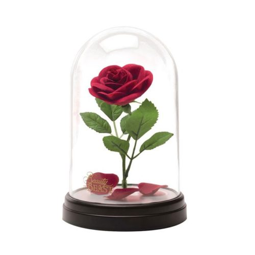 Lampada con Campana di vetro Rosa Beauty and the Beast Disney