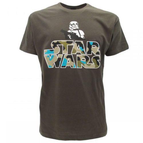 T-Shirt Verde Stormtruper Star Wars logo Camouflage
