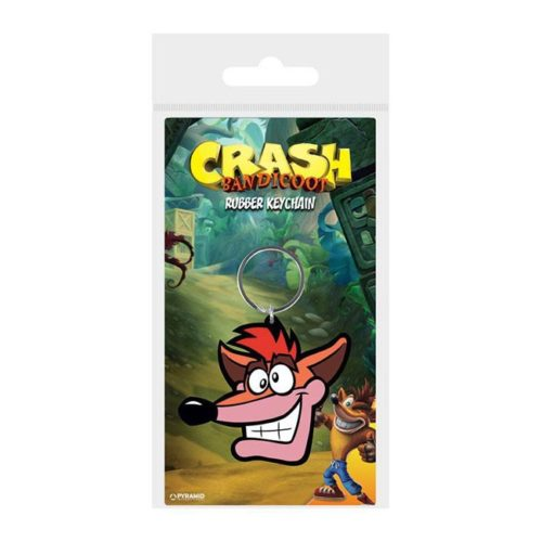 Portachiavi Crash Bandicoot in gomma