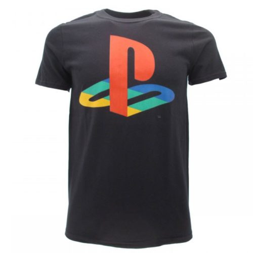 t-shirt nera logo playstation