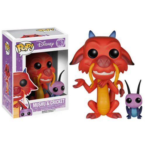 Funko Pop Mushu and Cricket Disney 167