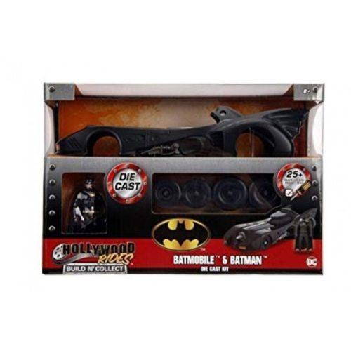 Batman con Batmobile da costruire Die Cast Kit