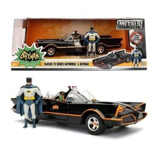 Batman con Batmobile classic tv series metal die cast