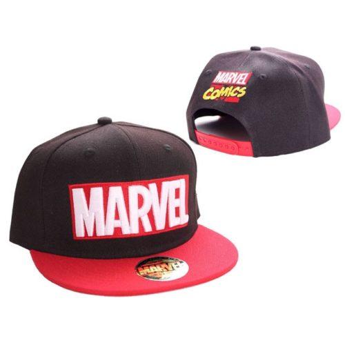 cappello con visiera logo marvel