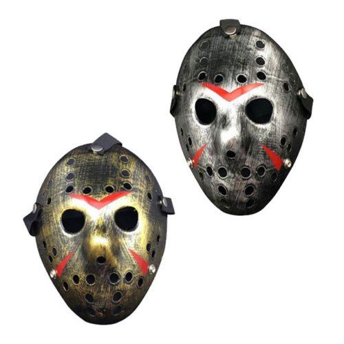 maschera Jason Voorhees argento oro