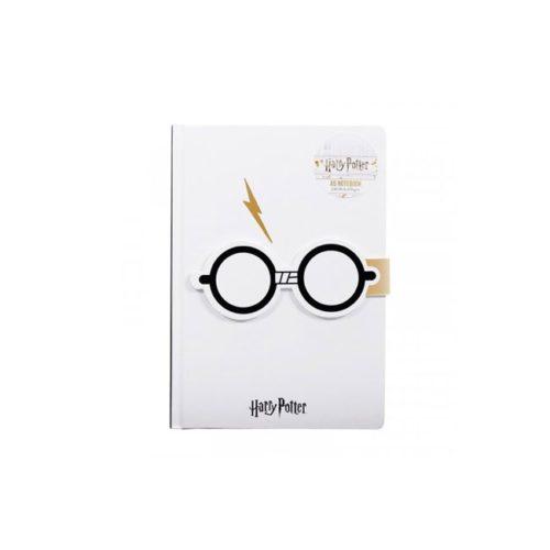 Notebook Bianco Occhiali Harry Potter