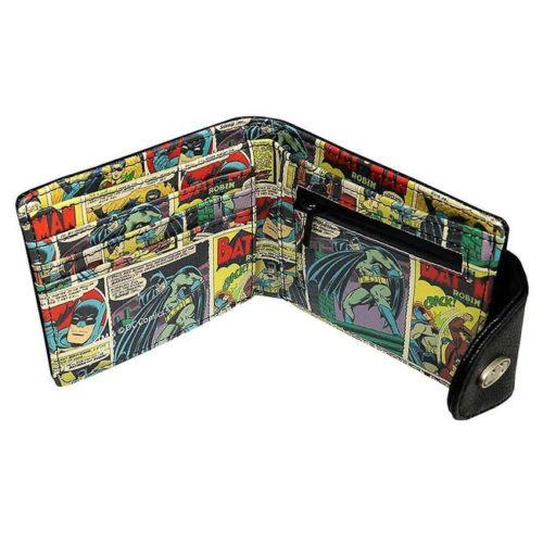 Portafoglio Batman con chiusura clip DC Comics dettaglio interno