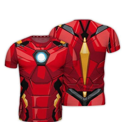t-shirt full print Iron Man