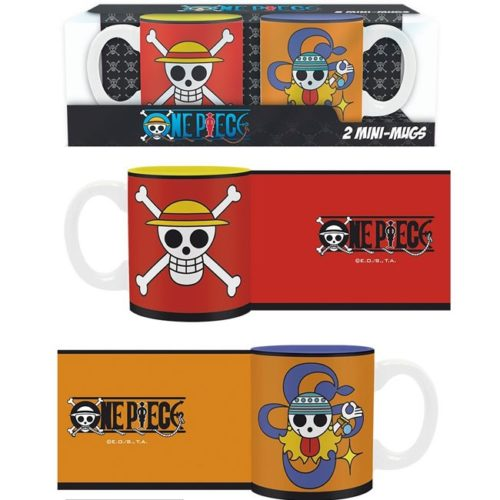set tazzine da caffe monkey d luffy e nami one piece
