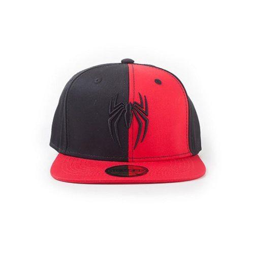 Cappello regolabile con visiera Rosso e Nero Spiderman Marvel