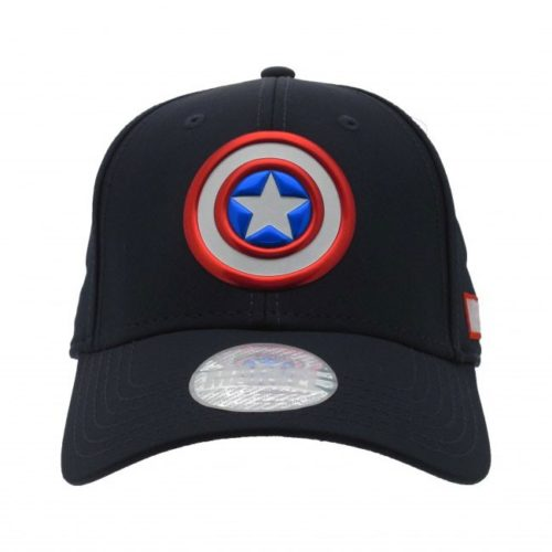cappello regolabile con visiera Capitan America Marvel