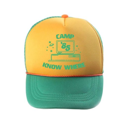 Cappello regolabile con visiera Camp 85 Know Where Dustin Cosplay Stranger Things