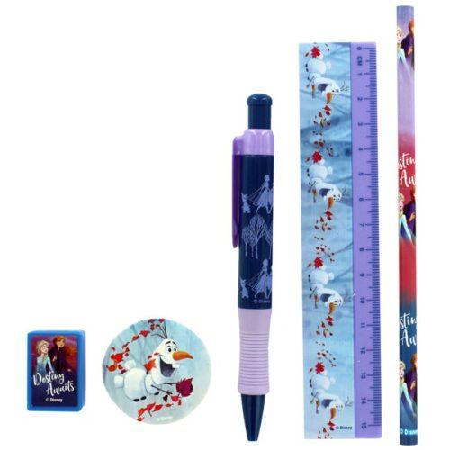 Set 5pz Scuola Frozen 2 dettaglio oggetti
