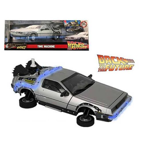 Modellino Delorean scala 1/24 Backto the Future con Luci